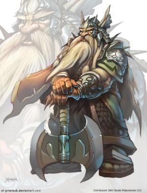 Ein Zwergenkönig in stolzer Pose (Bild von El-Grimlock)