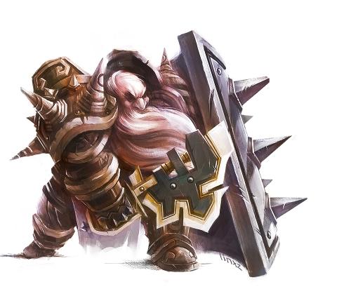 Ein Zwergenkrieger bereit zum Kampf (Bild von linxz2012)