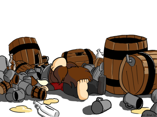 Betrunken funktioniren die Bücher sicher super (Bild von Art-Anon)