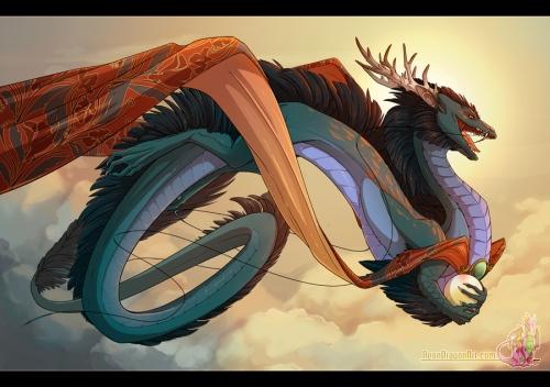 In China werden Drachen wieder ganz anders dargestellt (Bild von neondragon)