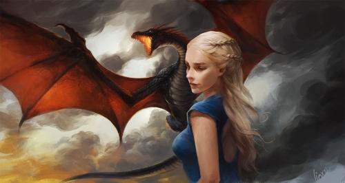 Daenerys Targaryen jenseits des Meeres (Bild von linxz2010)