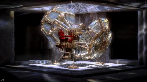 Die klassische Zeitmaschine von H. G. Wells (Bild von Hameed)