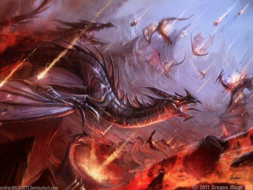 So sähen Schlachten mit Drachen vielleicht aus (Bild von HELMUTT)