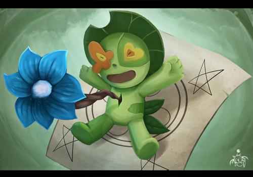 Oh, und der kleine Kerl hier ist Nii-Chan und knuffig (Bild von Moogart)