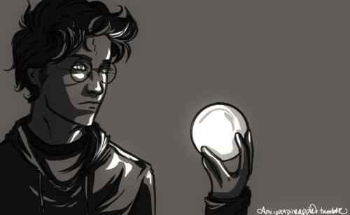 Harry hält die eigene Zukunft in Händen. Buchstäblich. (Bild von anxiouspineapples)