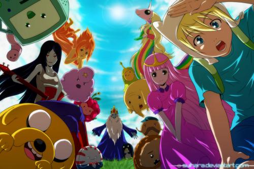 So würde Adventure Time als Anime aussehen (Bild von Suihara)