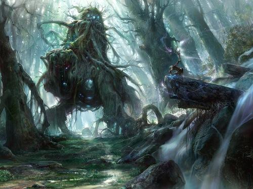 Zum Beispiel könnte es einen Gott des Waldes geben (Bild von noah-kh)